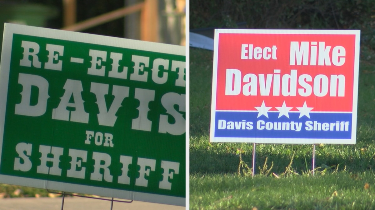 Dave Davis and Mike Davidson vye for the position of Davis County Sheriff.