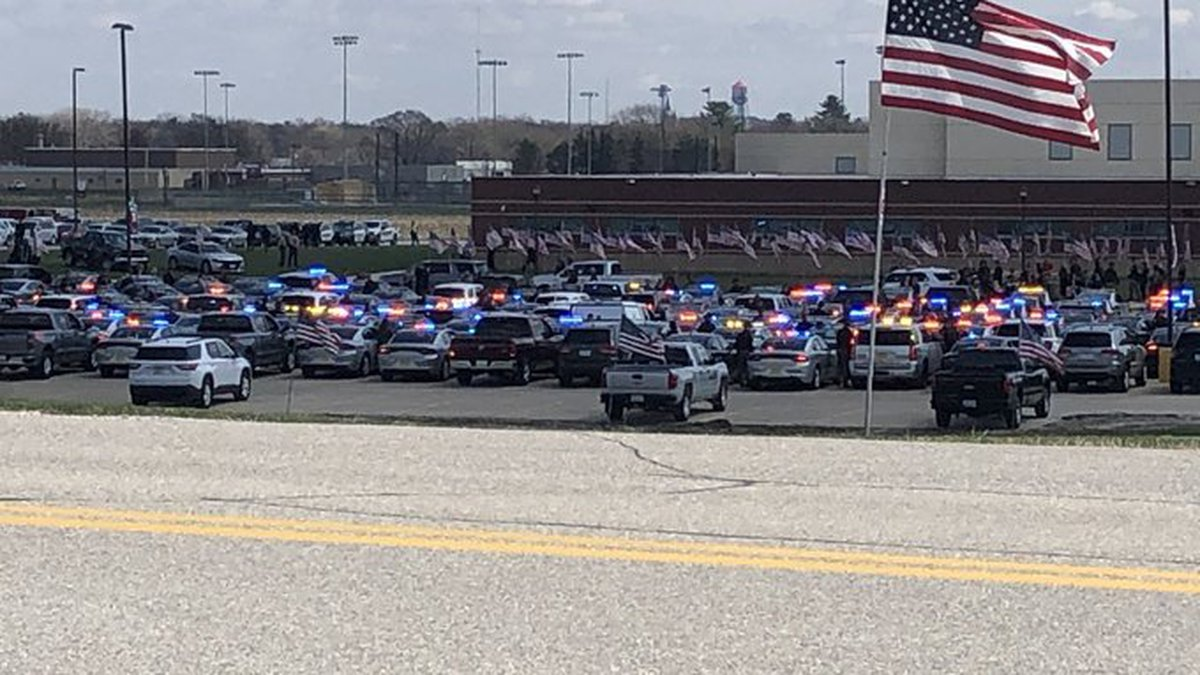 Law enforcement came out to pay respects to Sgt. Jim Smith of Iowa State Patrol