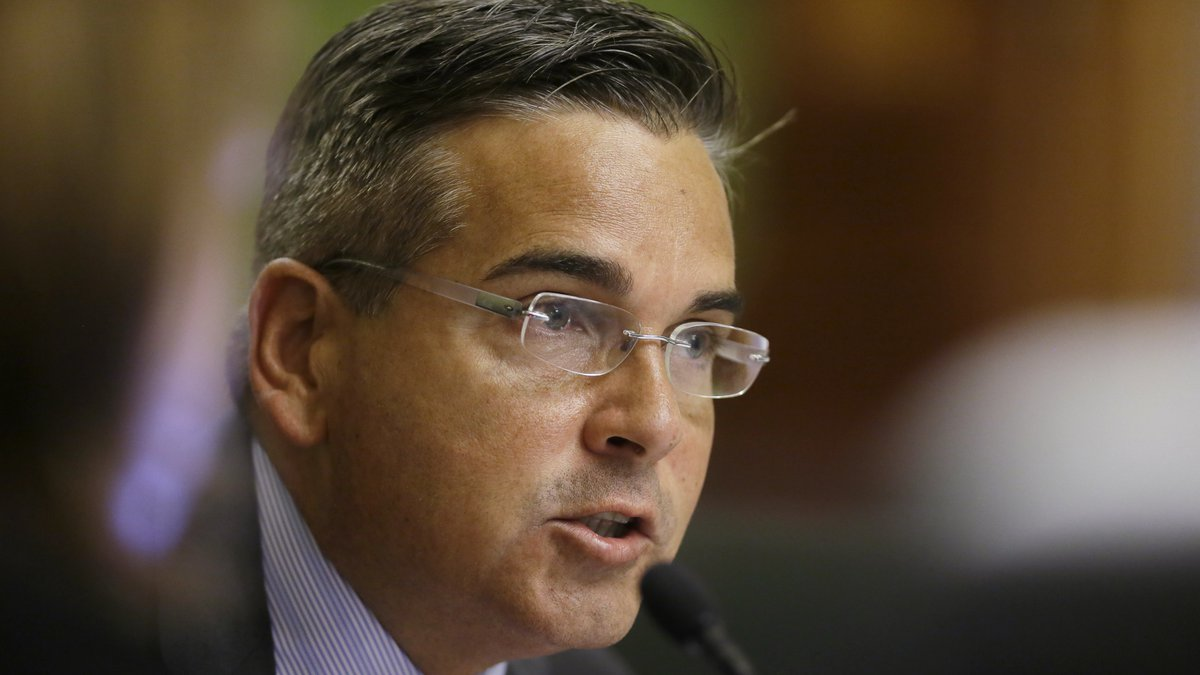 FILE - In this June 25, 2014, file photo, then-Iowa State Sen. Matt McCoy, D-Des Moines, speaks...