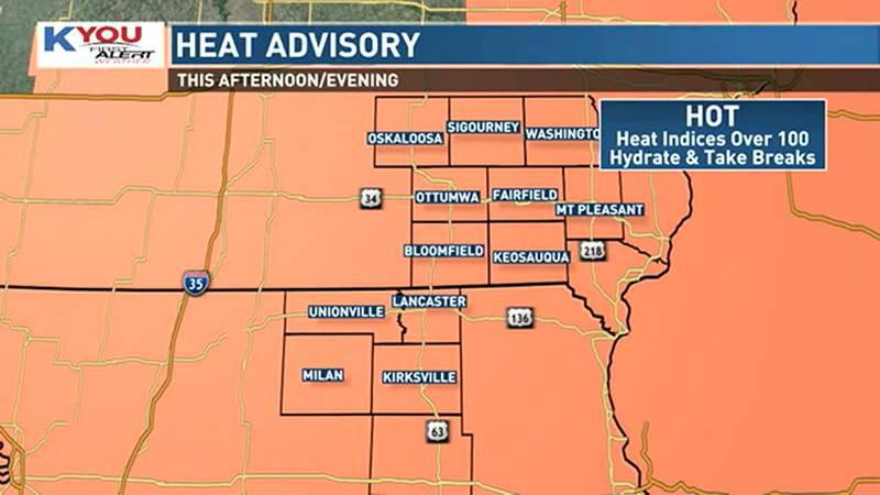 Heat advisory Wednesday
