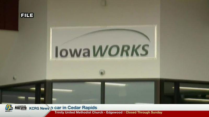 IowaWORKS sign.