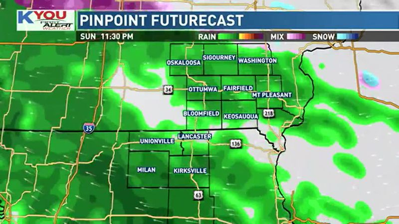 Rain chances with us today.