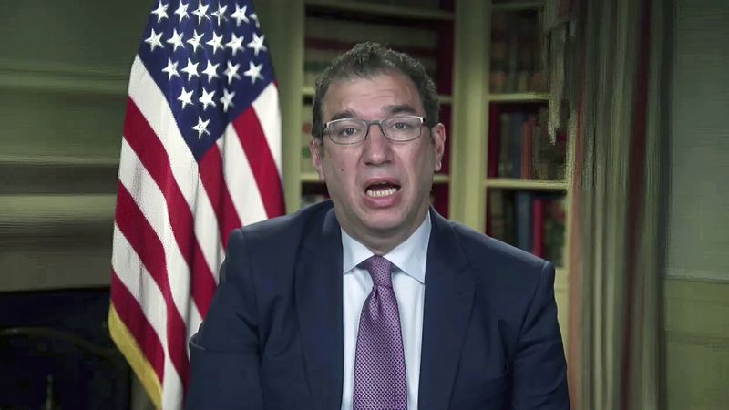 FILE - In this Jan. 27, 2021 image from video, Andy Slavitt, senior adviser to the White House...