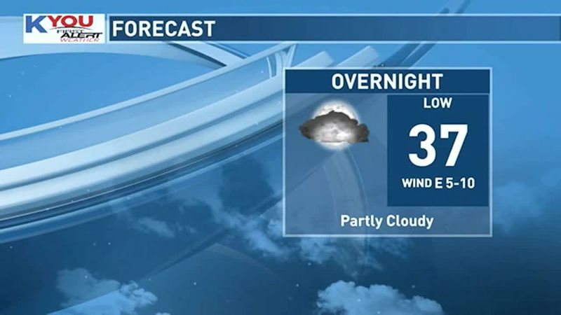 Chilly night ahead.