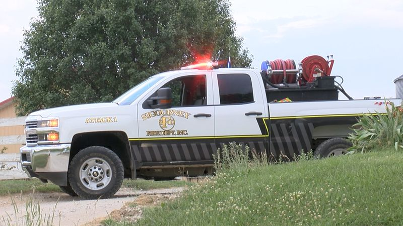 Emergency crews on the scene of an explosion at a family farm located in the 18000-block of...