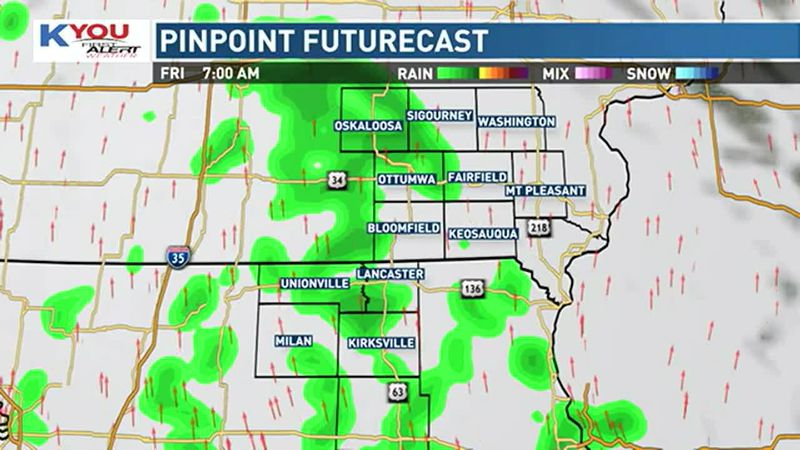 Chances for rain showers return overnight into Friday morning, though rain is expected to stay...