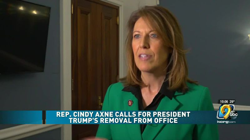 Congresswoman Cindy Axne calls for Trump to be removed from office