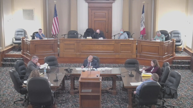 An approval of the 2022 Fiscal Budget, setting up a regional office for Rep. Miller-Meeks, and...