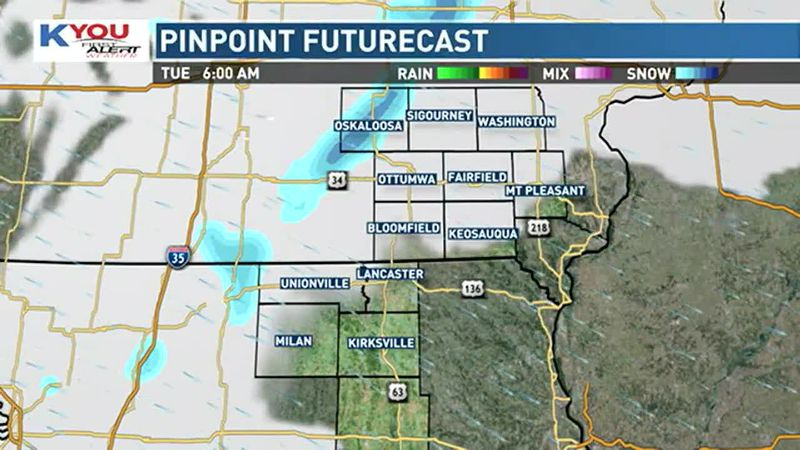Light snow possible Tuesday