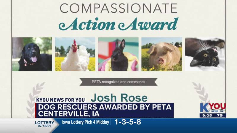 CENTERVILLE RESCUERS AWARDED BY PETA