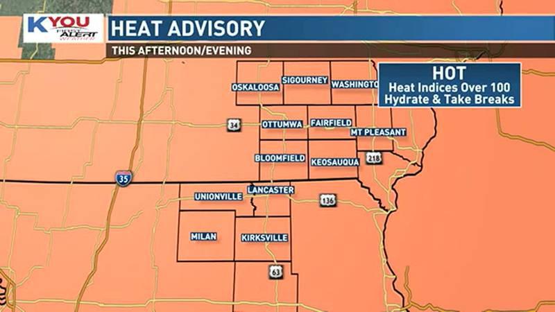 Heat advisory Tuesday