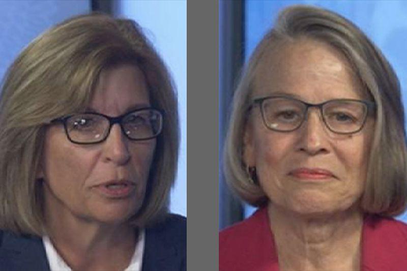 Democrat Rita Hart, left, and Republican Mariannette Miller-Meeks, right.