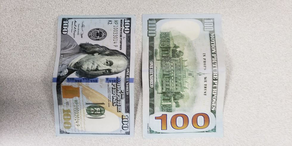 """Police warn about these fake bills that say """"motion picture purposes"""""""