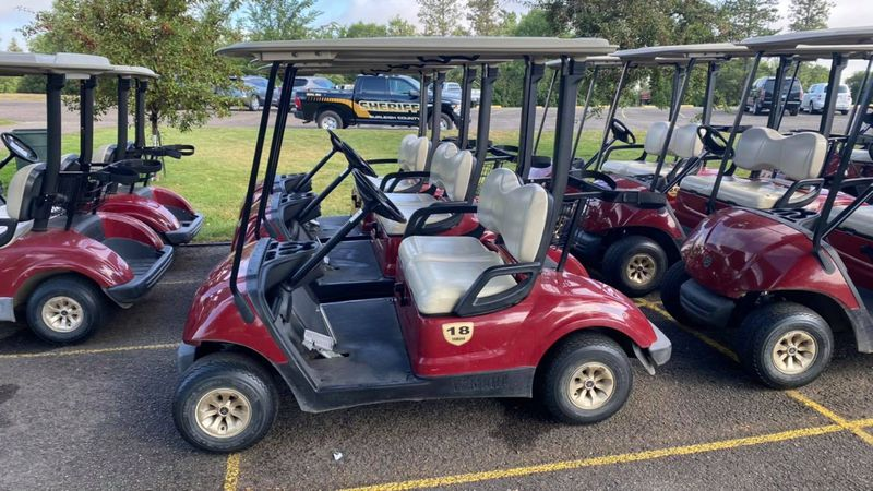 Apple Creek searching for six missing golf carts