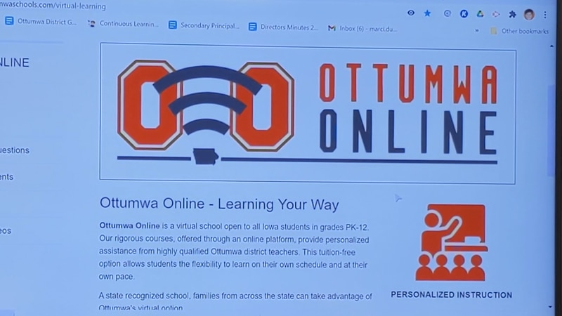 """Ottumwa School District's new virtual learning program enrollment """"lower than expected"""""""
