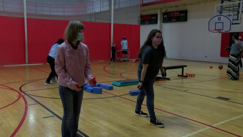 Empowered program holds obstacle course at YMCA