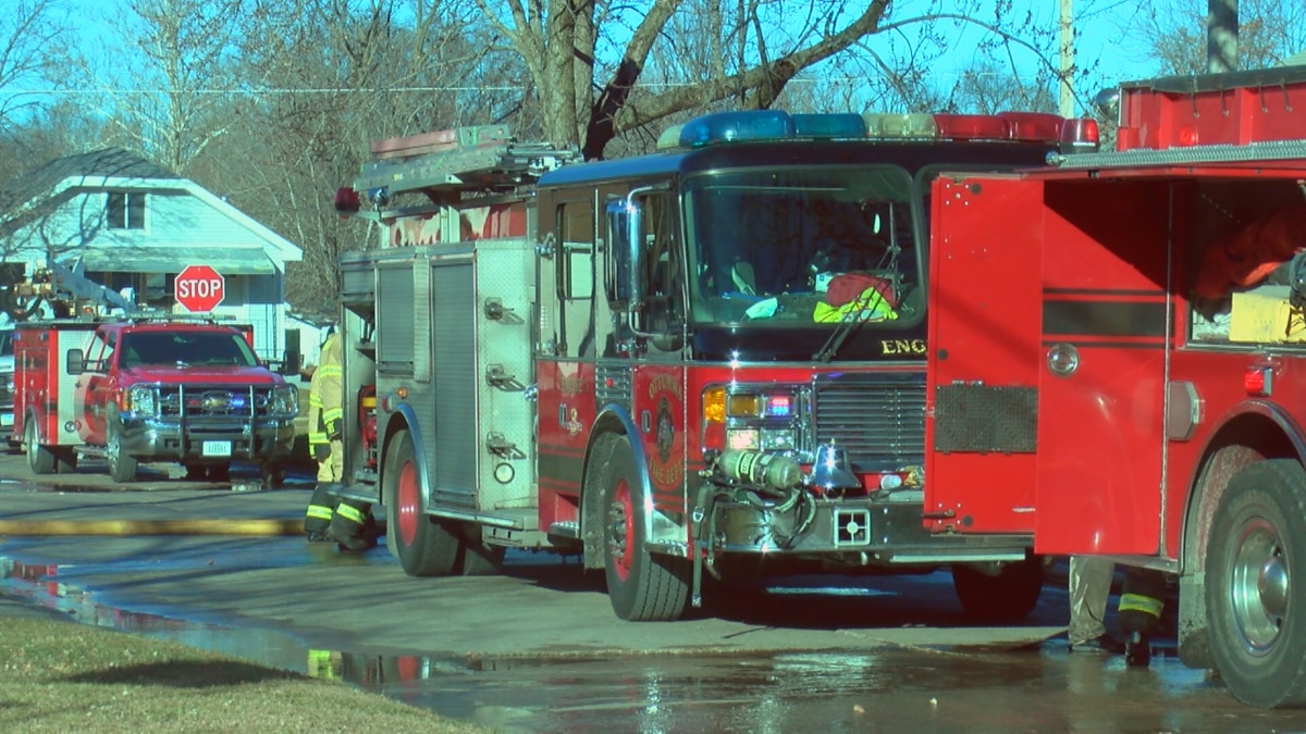 The house on Appanoose and Richmond saw its attic catch fire before quickly being extinguished