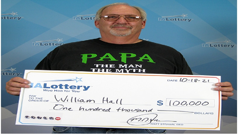 William Hall won big with the October 2nd Powerball drawing