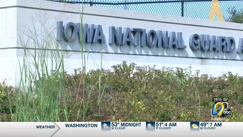 Iowa National Guard entrance.