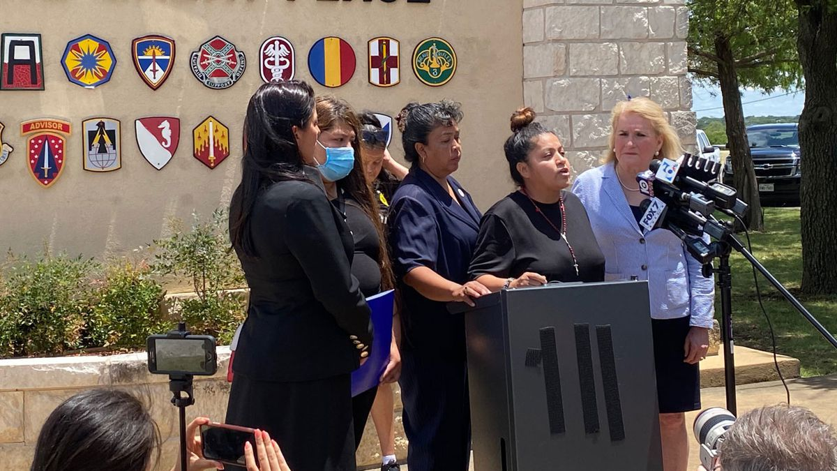The family of missing Fort Hood Pfc. Vanessa Guillen held a news conference Tuesday after meeting with post officials
