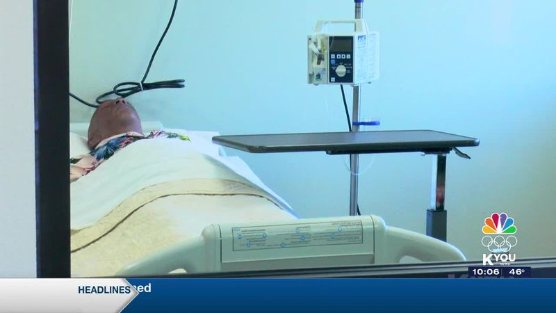 With the health care job in need, the new health simulation lab can accommodate many students....