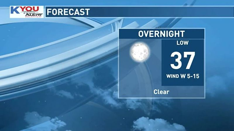 Chilly overnight.