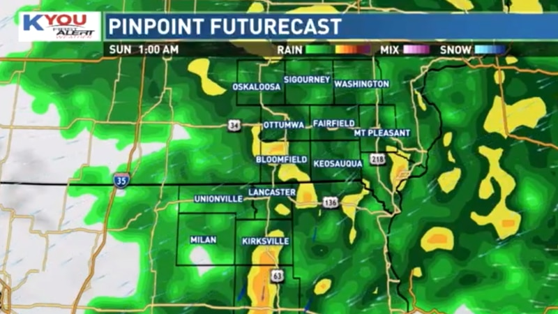 Rain continues overnight and into Sunday morning with areas along and south of Highway 20 most...