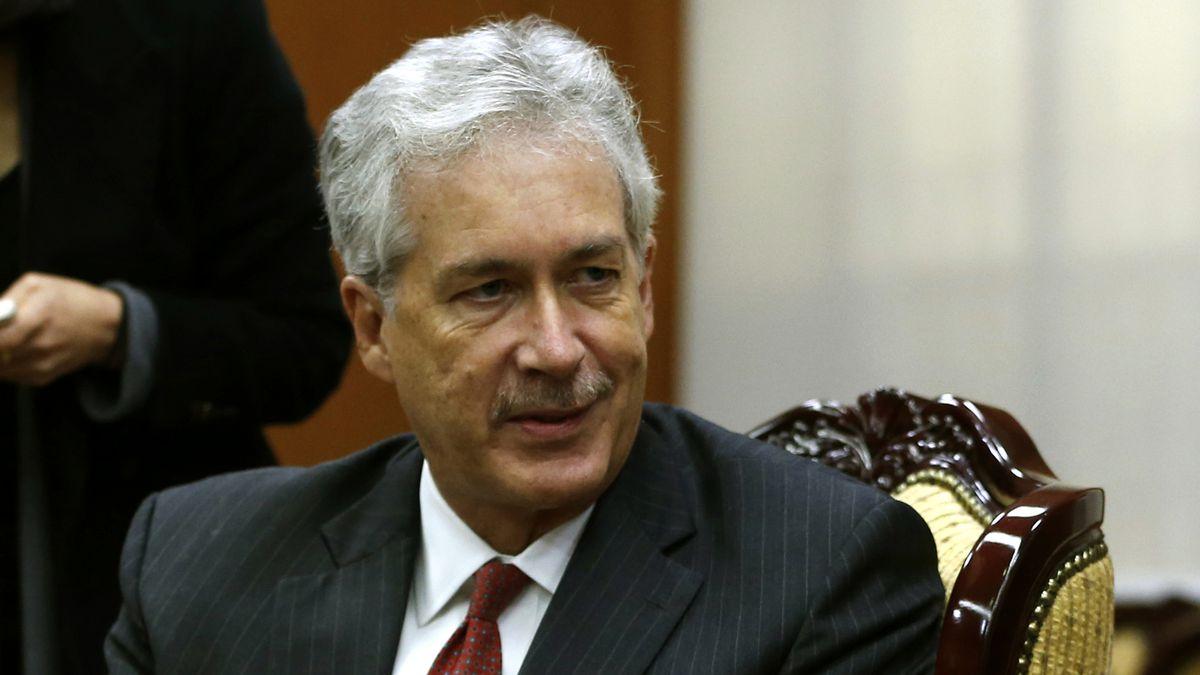 FILE - This Jan. 21, 2014 file-pool photo shows Deputy Secretary of State William Burns talking...