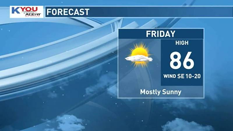 Look for temperatures to rise back to the mid 80s on Friday with dew points in the low to mid...