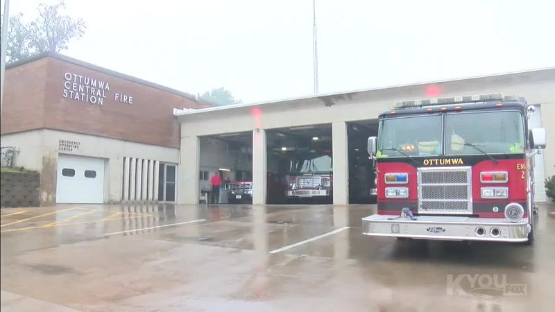 Members of the Ottumwa Fire Department took time to remember the sacrifices made on September...