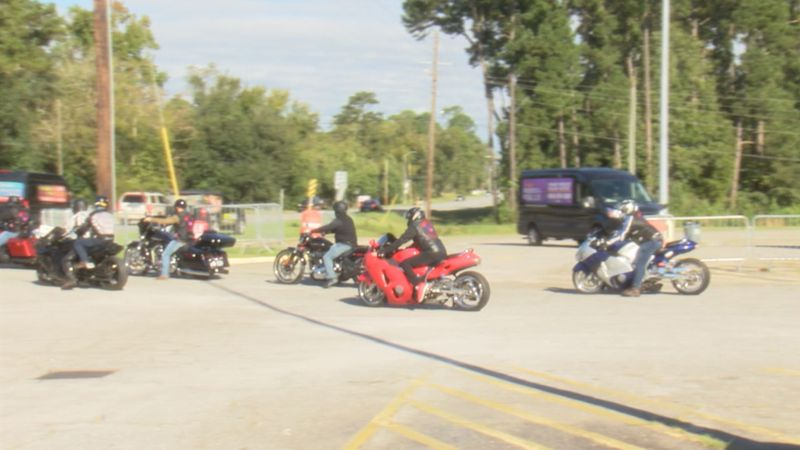 Motorcycle riders and other vehicles on the road this summer.
