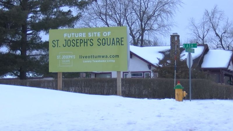 Construction on the delayed St. Joseph's Square housing development project in Ottumwa is...