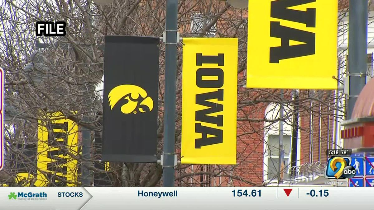 University of Iowa banners