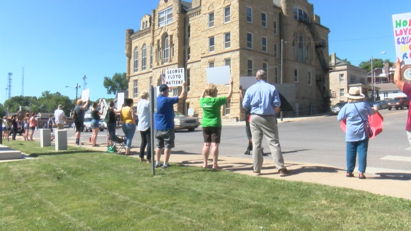 Ottumwans organize a BLM protest over the summer.