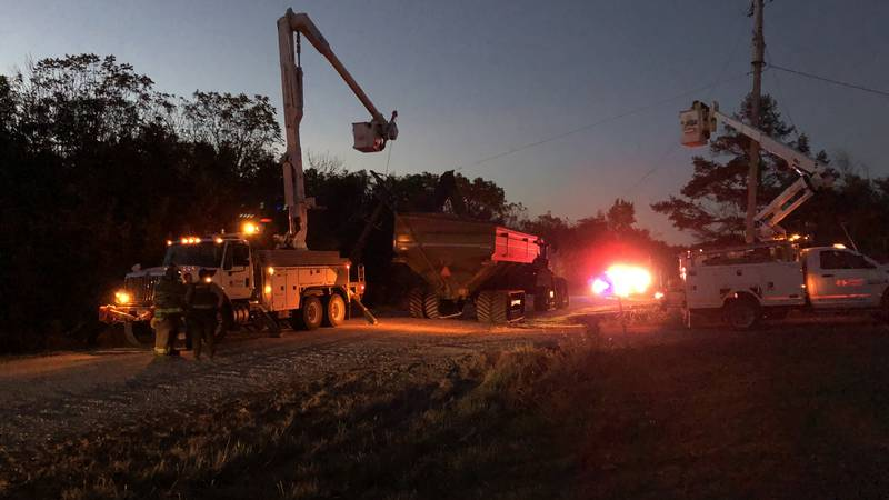 Alliant Energy crews are working to turn the power off to the lines