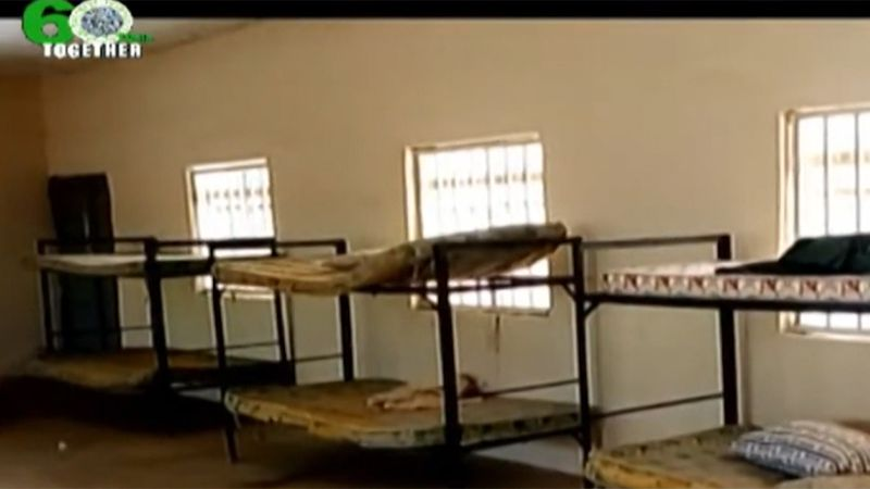A dormitory at a secondary girls school in Nigeria is empty after gunmen abducted more than 300...