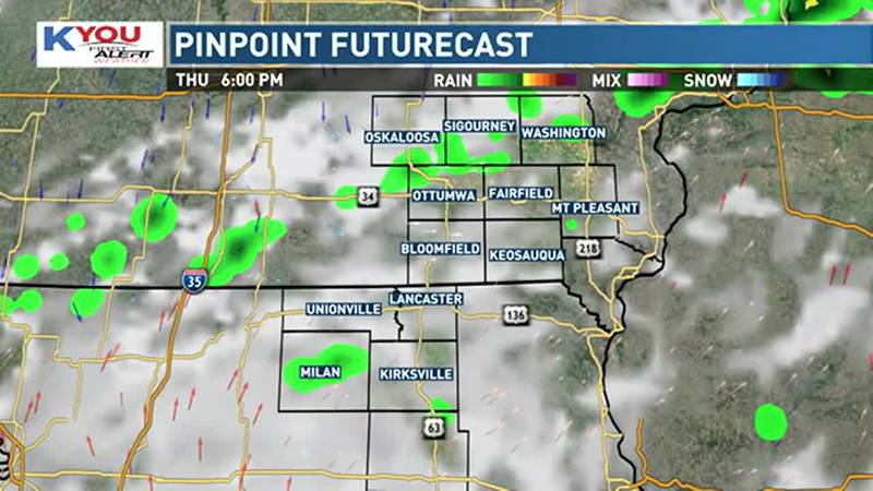 Scattered storms tonight