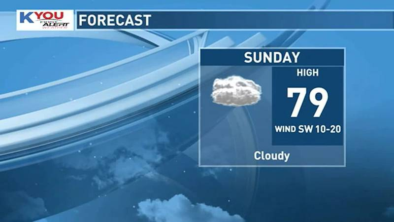 A spotty shower is possible Sunday though these will be light and scattered. Rain becomes more...