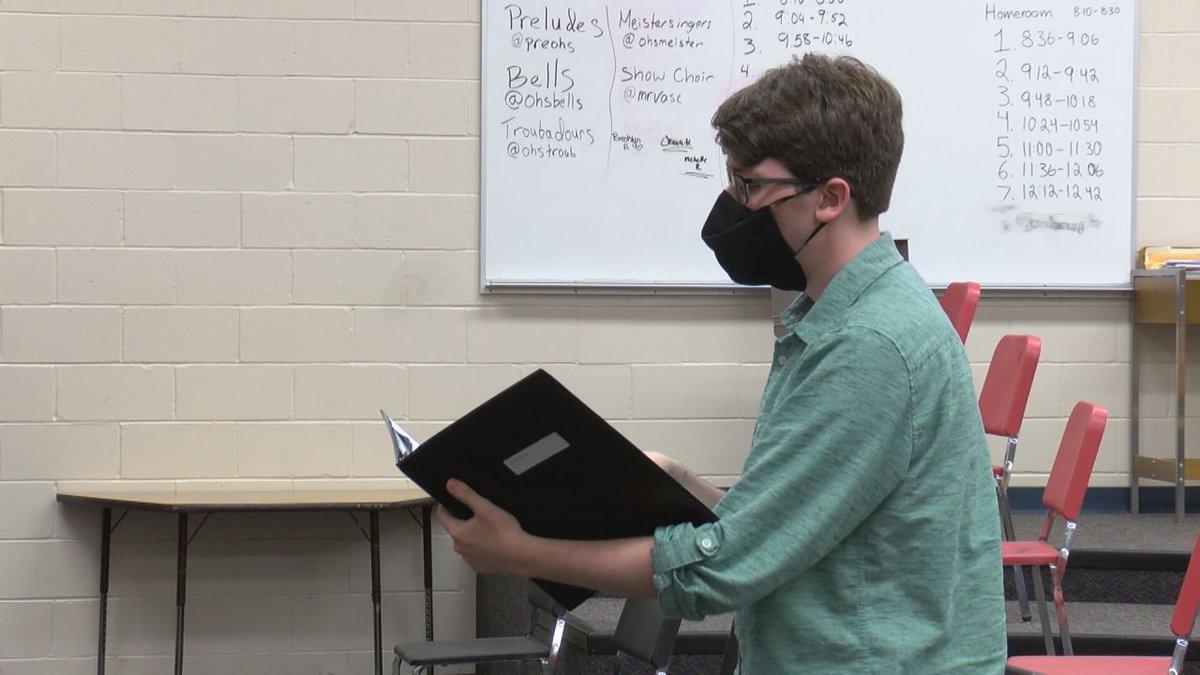 Ottumwa High School choir received special masks to help them sing in