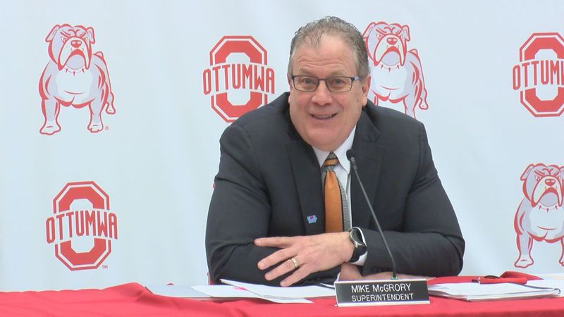 During a Thursday press conference, Ottumwa School's superintendent, Mike McGrory, said a...